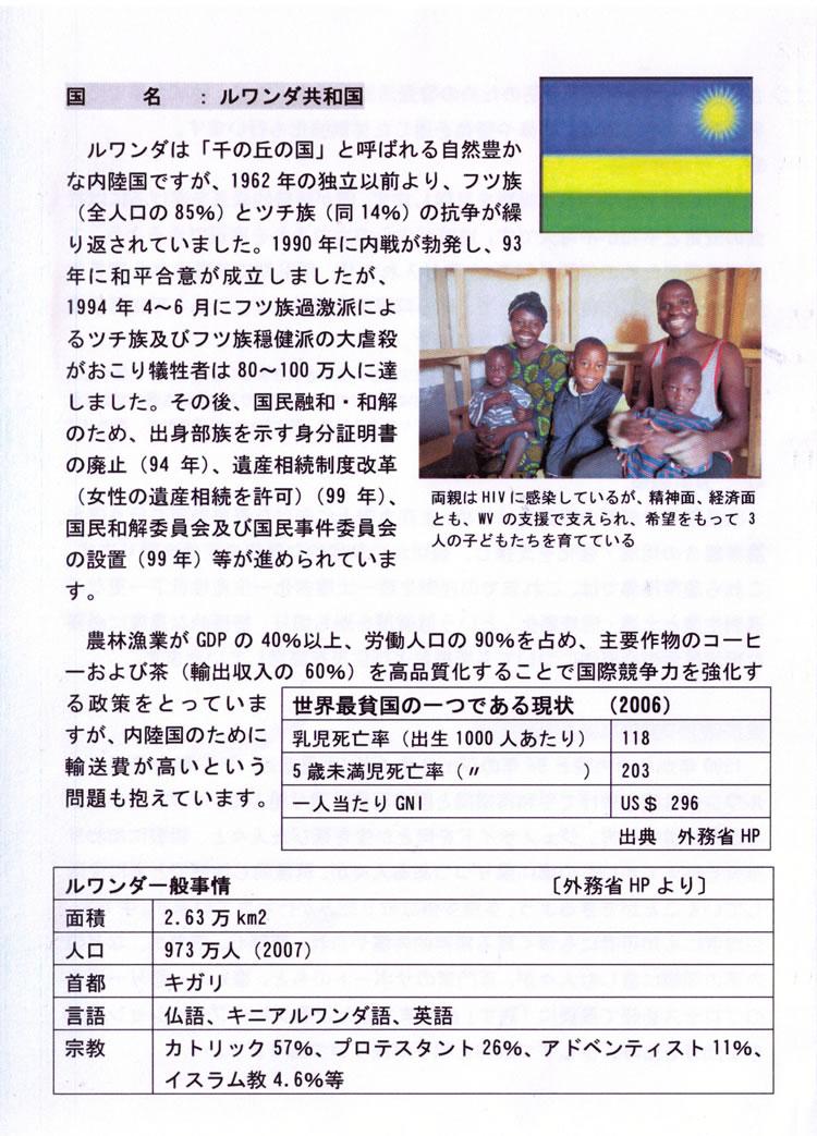 ルワンダ共和国について